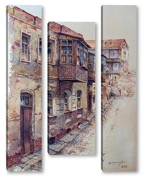 Модульная картина Старая улочка