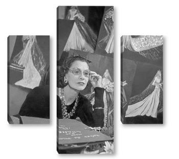 Модульная картина Coco Chanel-04