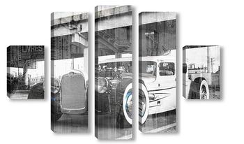 Модульная картина Ретро автомобиль