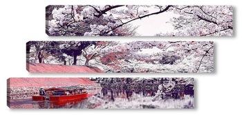 Модульная картина Весна в Японии