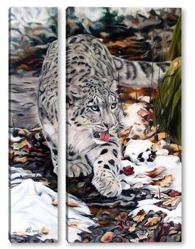 Модульная картина Снежный леопард