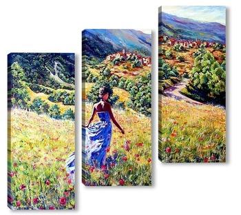 Модульная картина Прогулка в окрестностях Санкт Эуфемия -а- Маелла
