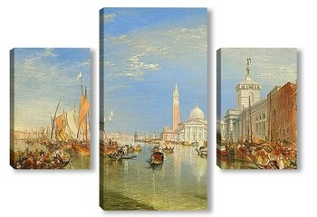 Модульная картина Догана и Санта Мария делла Салюте, Венеция