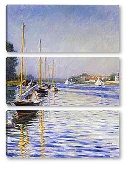 Модульная картина Лодки на Сене. 1892