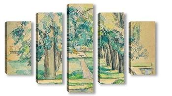 Модульная картина Авеню каштановых деревьев в Жа де Буффане