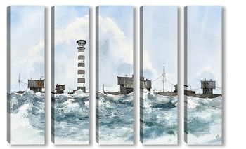 Модульная картина Маяк острова Моржовец