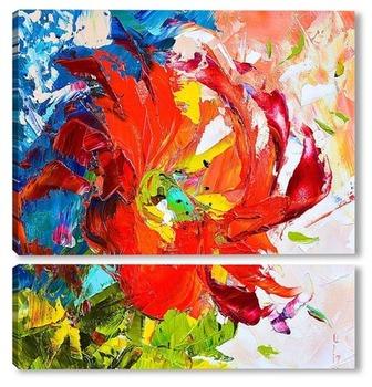 Модульная картина Танец цветка