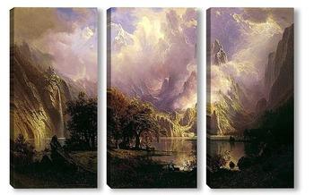 Модульная картина Скалистый горный пейзаж