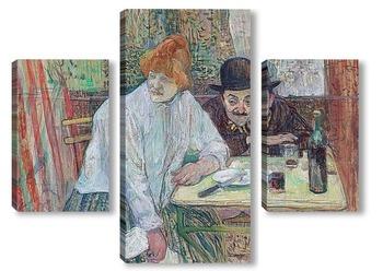 Модульная картина В кафе Ля Ми, 1891