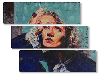 Модульная картина Марлен Дитрих.