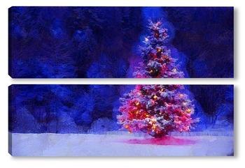 Модульная картина Новогодняя  красавица