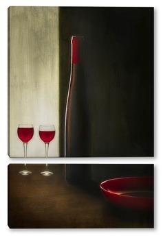 Модульная картина красное вино