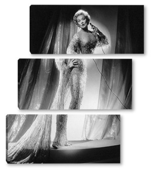 Модульная картина Марлен Дитрих поющая в кабаре.
