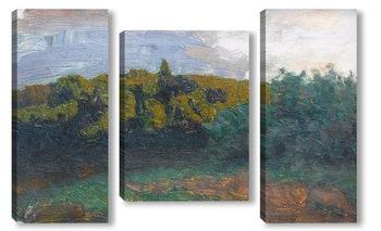 Модульная картина Облачное утро, 1887