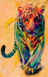 Наклейки Пестрый тигр