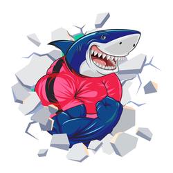 Наклейки Акула – силач