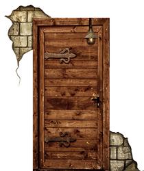 Наклейки Дверь в замок