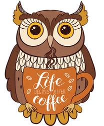 Наклейки Life begins after coffee