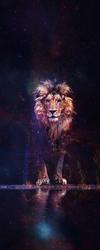 Наклейки Космический лев