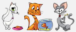 Наклейки Мультяшные коты