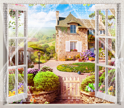 Наклейки Прекрасный вид из окна
