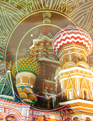 Наклейки Храм Василия Блаженного