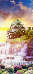 Наклейки Японский сад