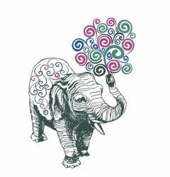 Наклейки Слон с орнаментом