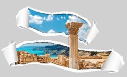 Наклейки Руины в Риме