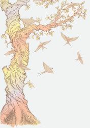 Наклейки Радужное дерево