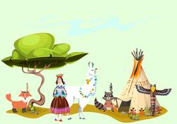 Наклейки Индейское племя