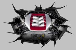 Наклейки Двигатель в разломе