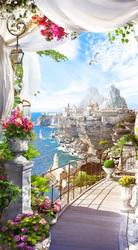 Наклейки Средиземноморский пейзаж