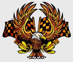 Наклейки Пламенный орел