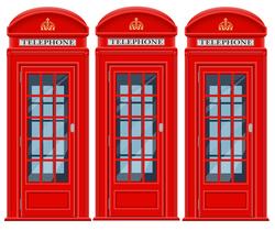 Наклейки Красная телефонная будка