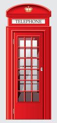 Наклейки Телефонная будка