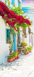 Наклейки Цветочный дворик