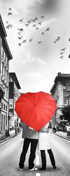 Наклейки Влюбленные под зонтом