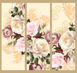 Наклейки распустившиеся Розы