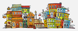Наклейки Красочный городок