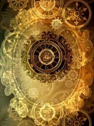 Наклейки Часовой механизм