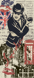Наклейки Лондонский поп арт