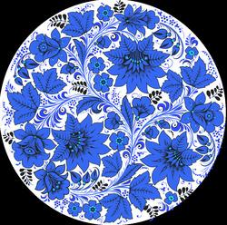 Наклейки Синие цветы