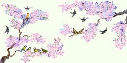 Наклейки Птички на ветке