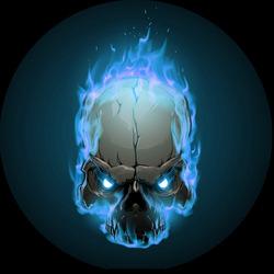 Наклейки Горящий череп