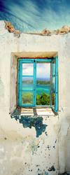 Наклейки Окно в руинах