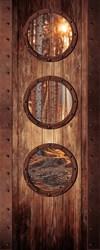 Наклейки Дверь с окошками