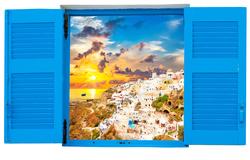 Наклейки Окно в Сицилию