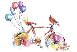 Наклейки Велосипед и шарики