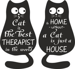 Наклейки Коты в доме